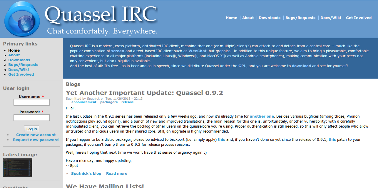 Blogs   Quassel IRC