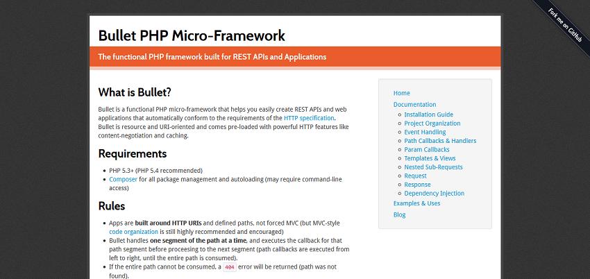 Bullet PHP Micro-Framework — Bullet PHP Micro-Framework