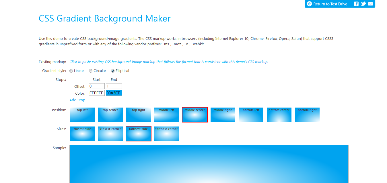 CSS Gradient Background Maker