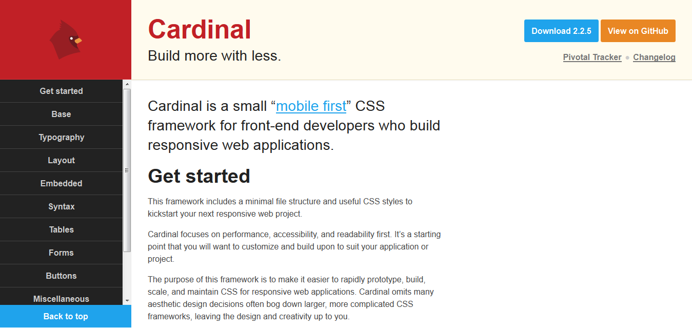 Cardinal • Build more with less