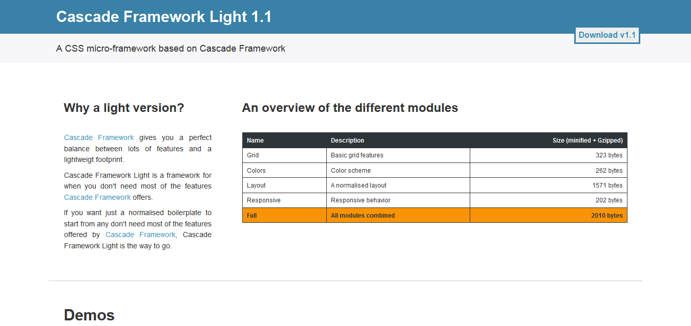 Cascade Framework Light