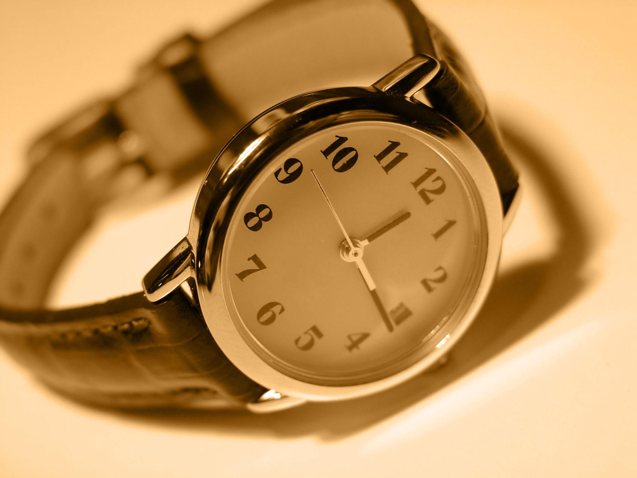 Classic Hand Watch Sepia