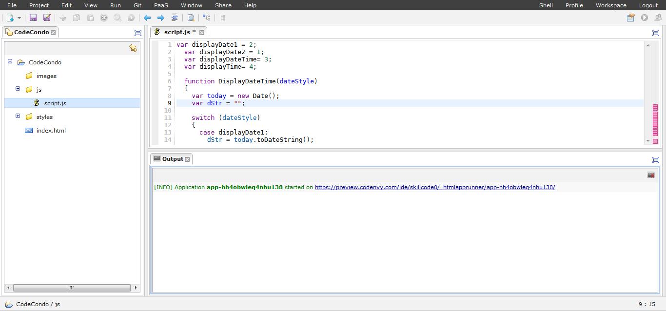 Codenvy IDE