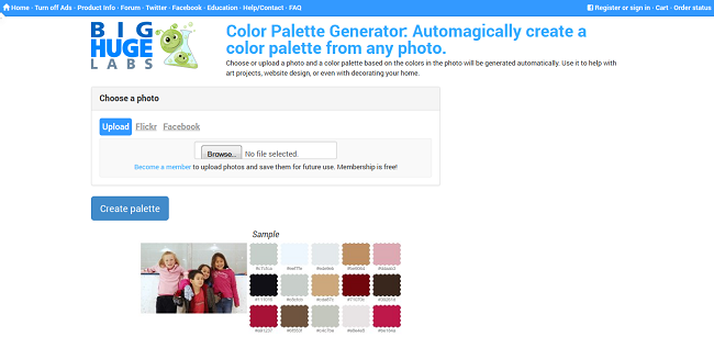 Color Palette Generator from Photography