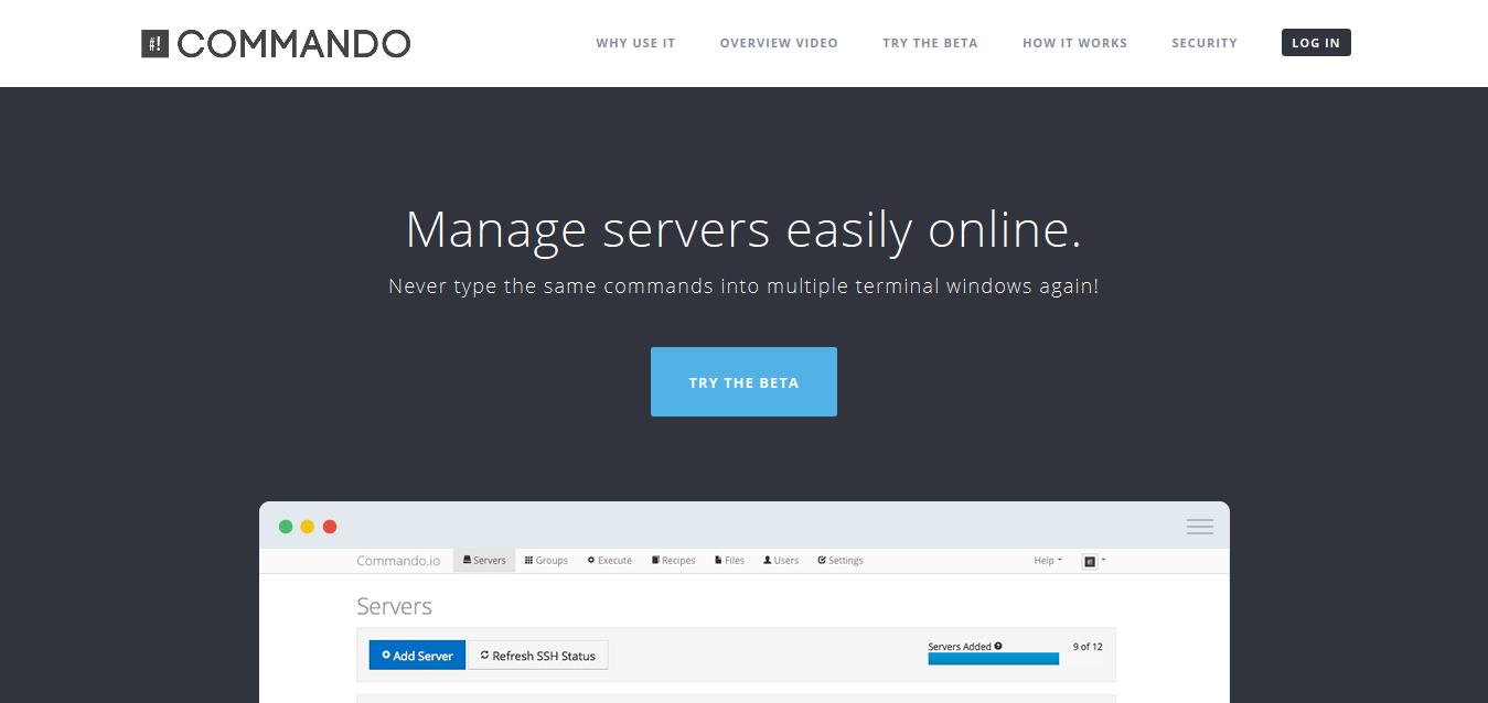 Commando_io - Manage servers easily online
