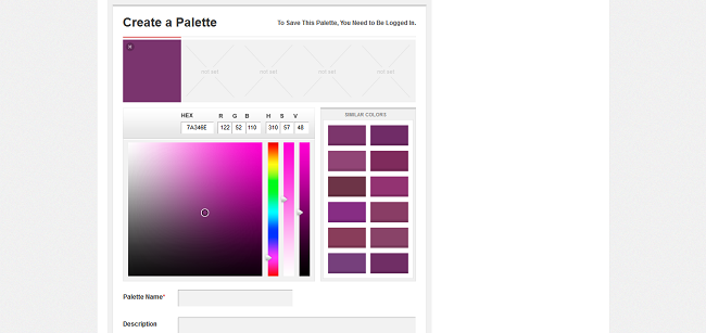 Create a Palette by COLOURlovers