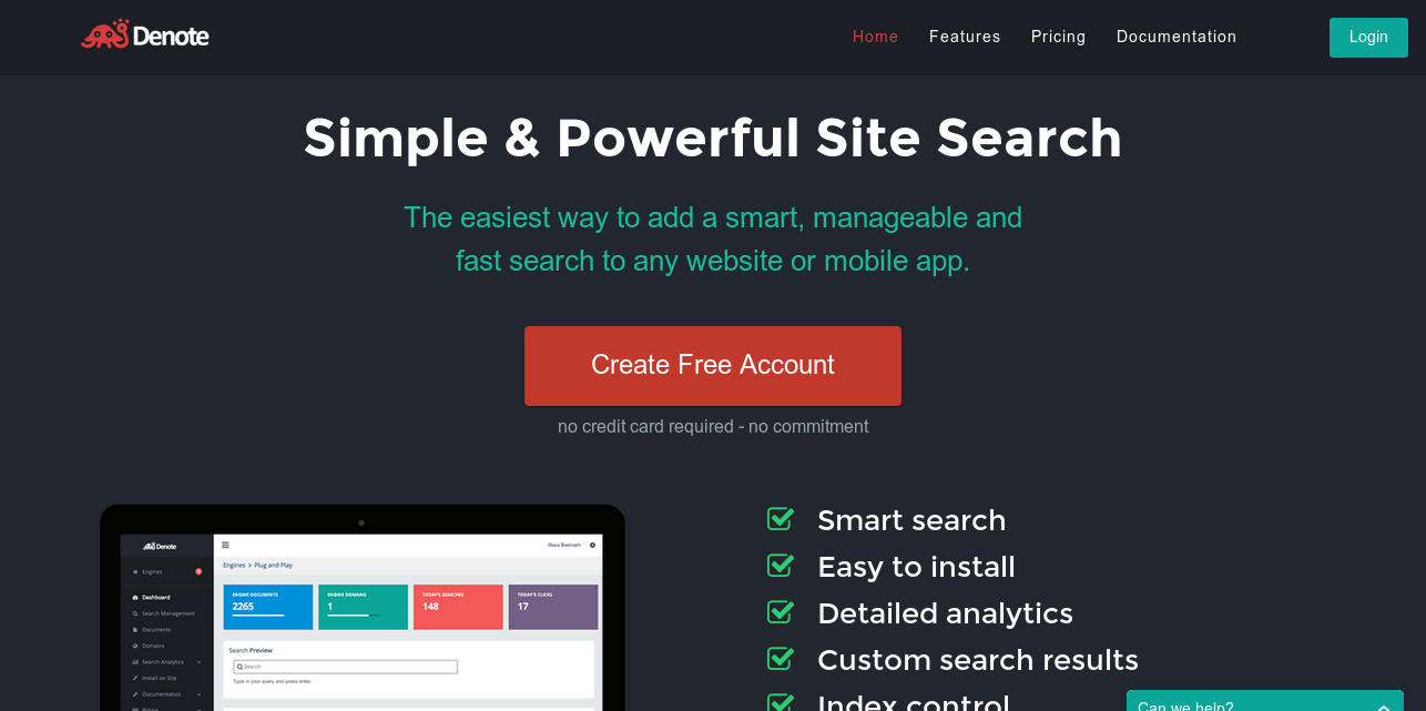Denote - Simple  Powerful and Beautiful Search for Websites & Apps