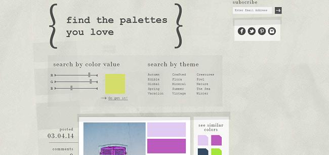 Design Seeds® I find your palette