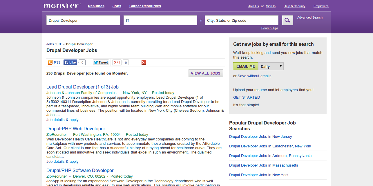 Drupal Developer Jobs   Monster.com