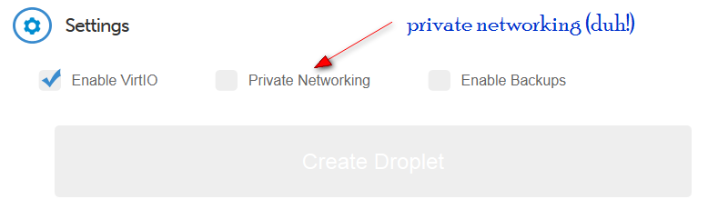 Enable Private Networking on DigitalOcean