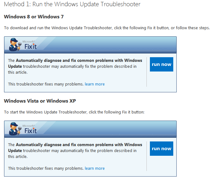 microsoft fix windows update windows 7