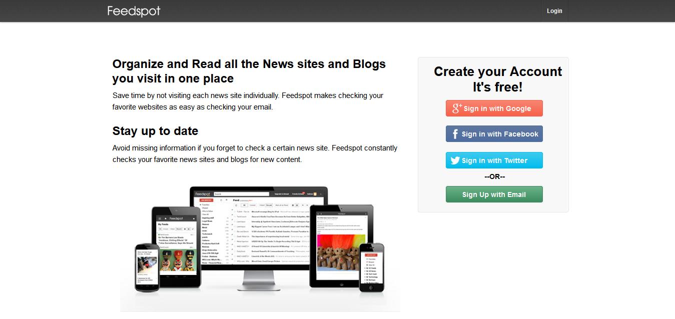 Feedspot - A fast, free, modern Rss Reader