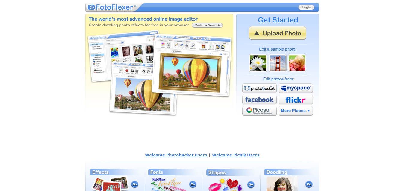 FotoFlexer - The world's most advanced online photo editor
