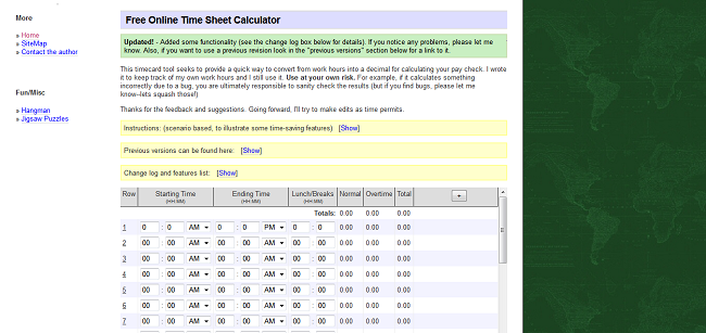 timesheet template timesheet calculator all form templates
