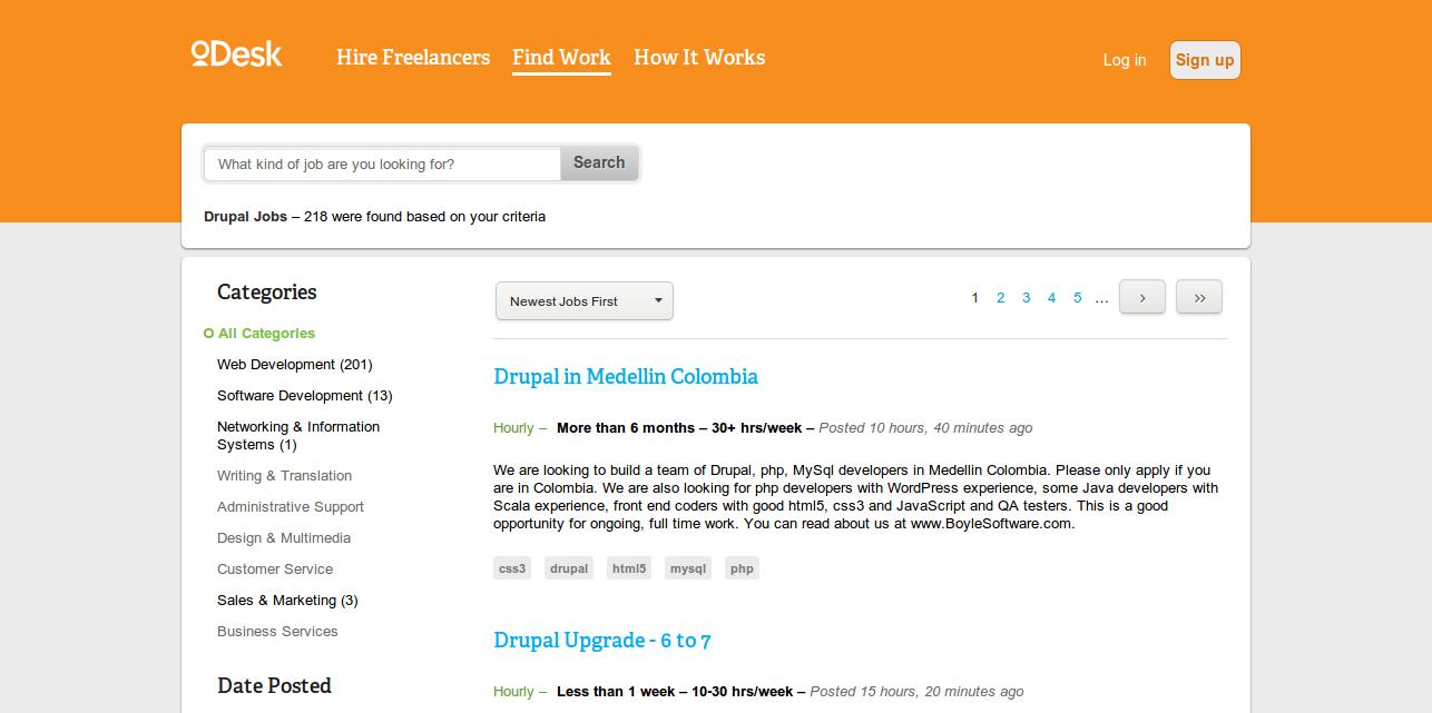Freelance Drupal Jobs Online   oDesk