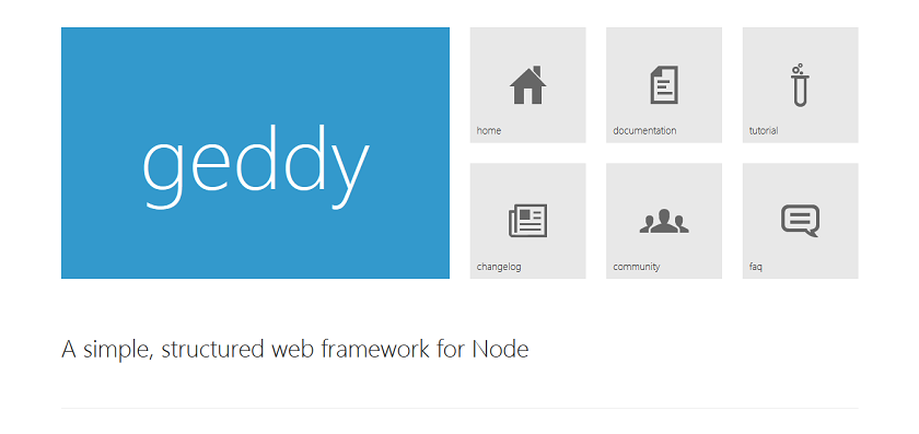 Geddy I The original MVC Web framework for Node - a simple, structured way to create full stack javascript applications