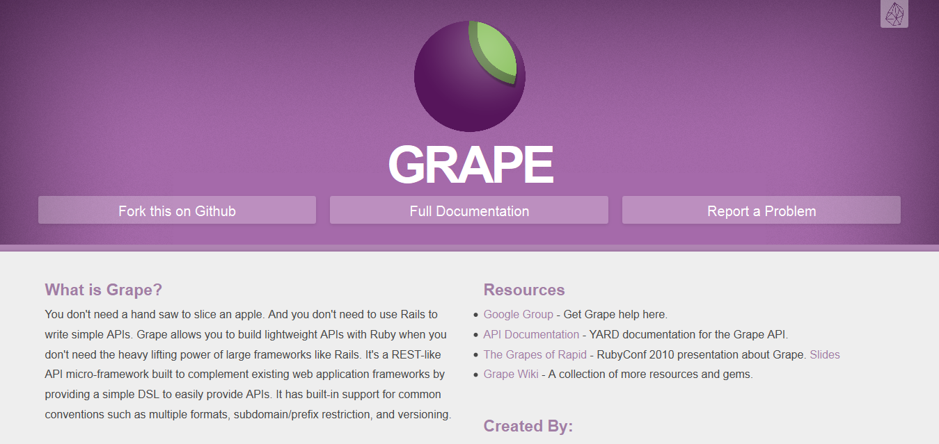 Grape I REST-like API micro-framework