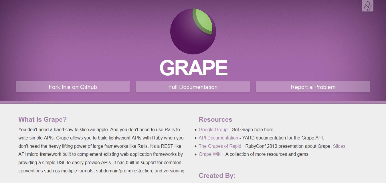 Grape I REST-like API micro-framework