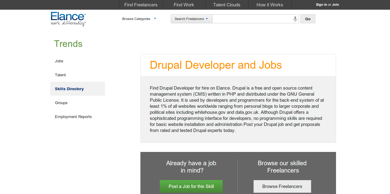 Hire Drupal Developer and find Drupal jobs     Elance