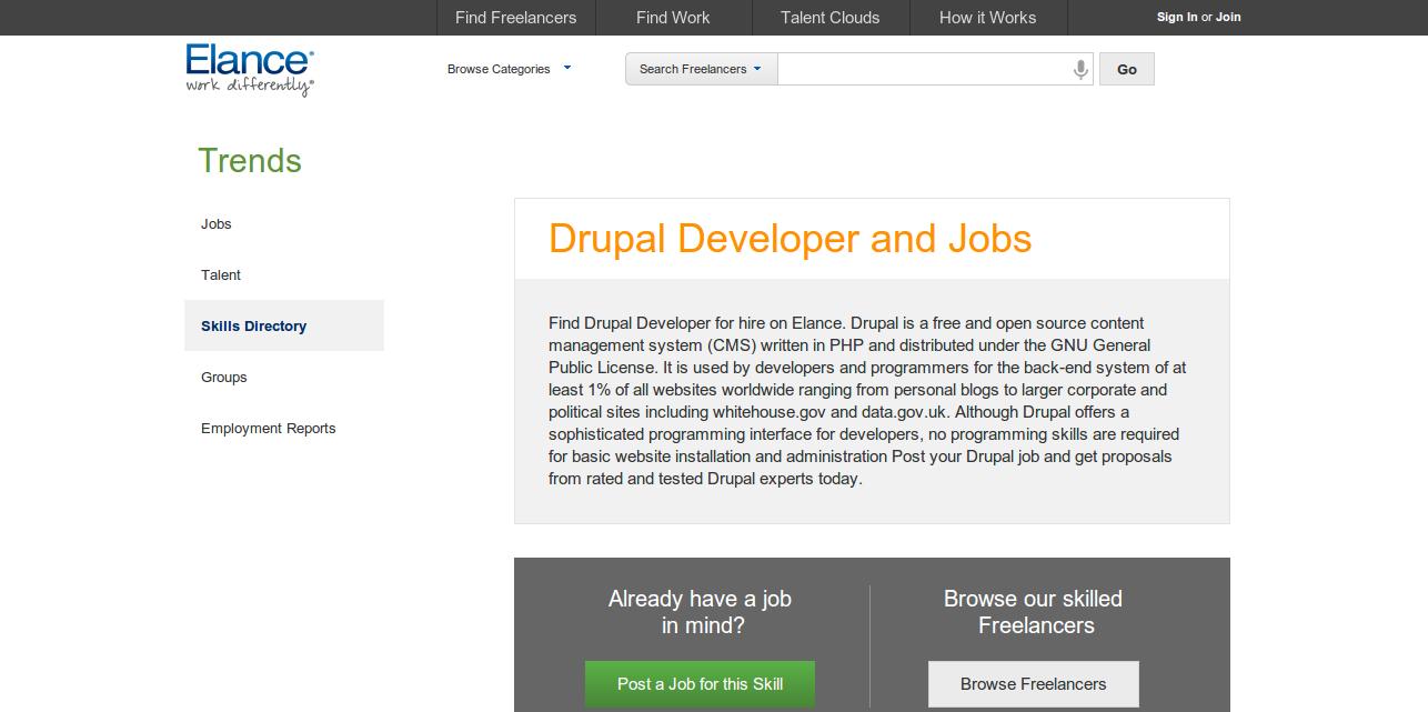 Hire Drupal Developer and find Drupal jobs     Elance