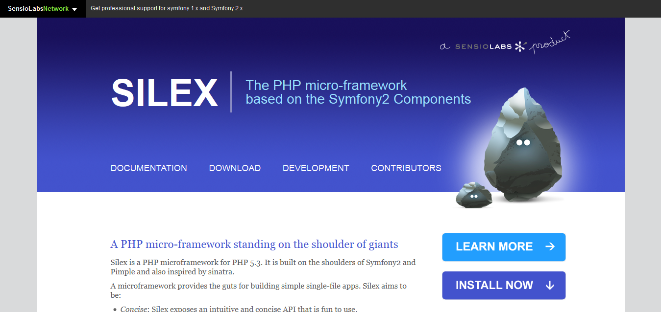 Homepage - Silex - The PHP micro-framework based on Symfony2 Components
