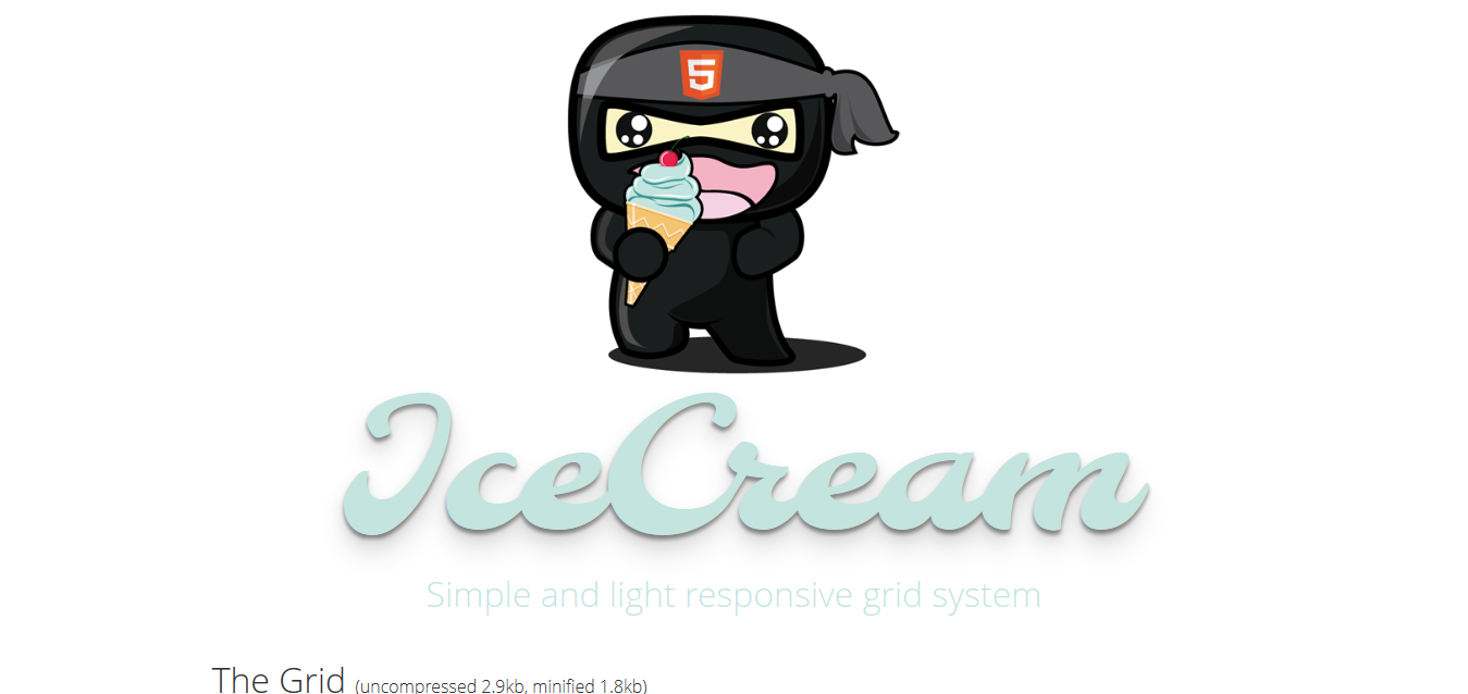 IceCream - Simple and light responsive grid system
