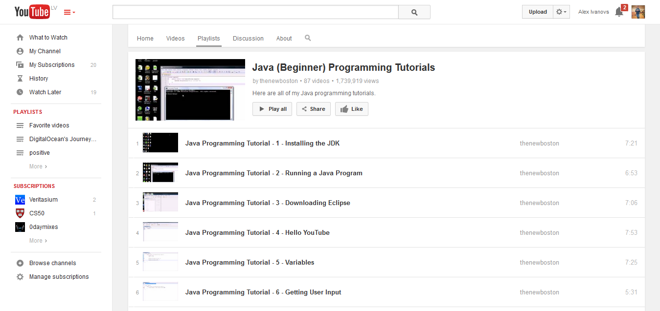 Java (Beginner) Programming Tutorials - YouTube