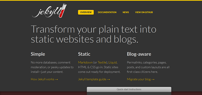 Jekyll • Simple, blog-aware, static sites