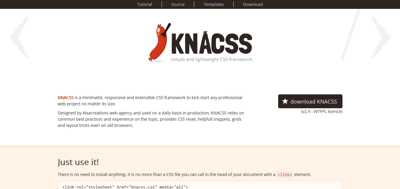 KNACSS, a simple and lightweight CSS framework
