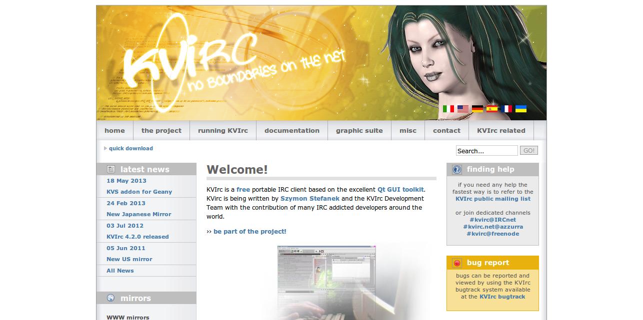 KVIrc.net The Visual IRC Client