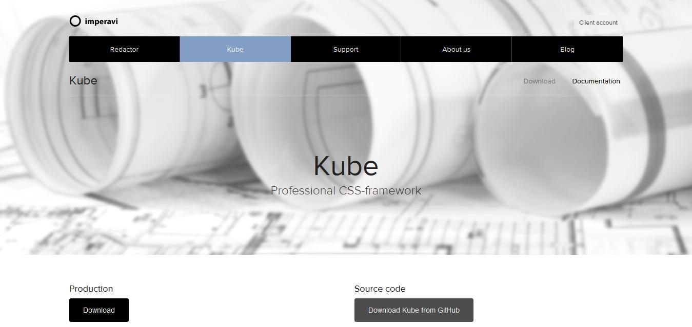 Kube — professional CSS-framework