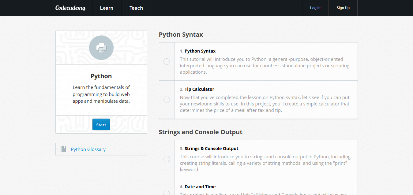 Learn Python Programming I Codecademy Online Tutorials