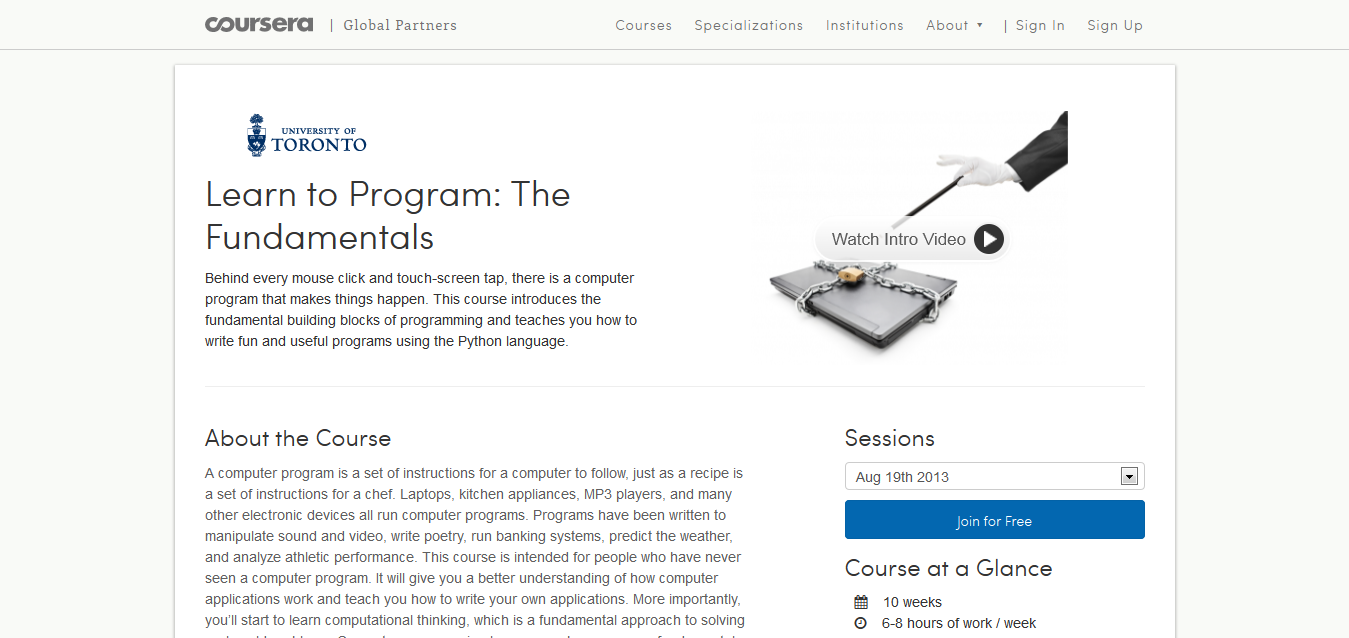 Learn to Program_ The Fundamentals I Coursera