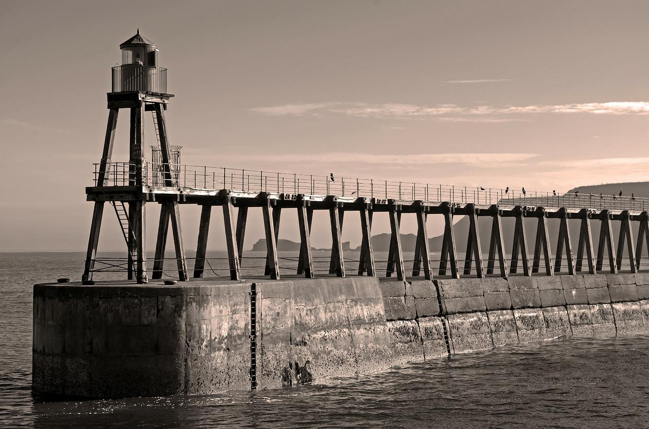 Lighthouses Architecture Sepia