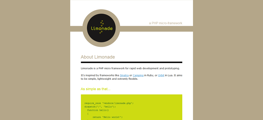 Limonade - PHP micro-framework
