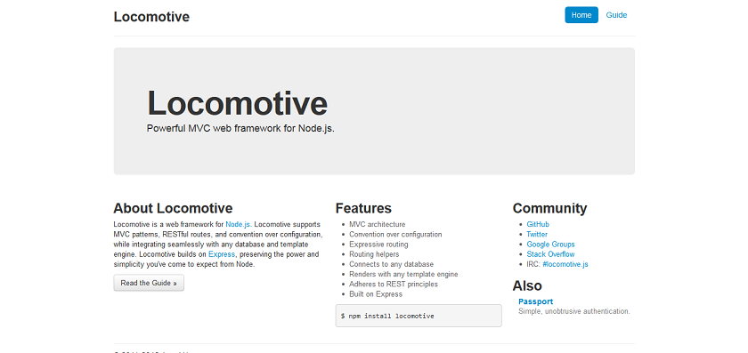 Locomotive - Powerful MVC web framework for Node_js