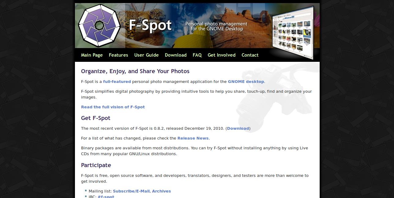 Main Page - F-Spot