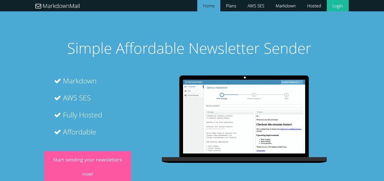 MarkdownMail - Simple Affordable Newsletter Sender