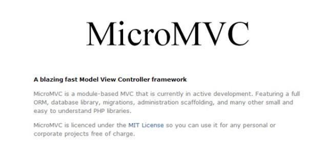 MicroMVC PHP Framework