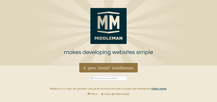 Middleman_ Hand-crafted frontend development