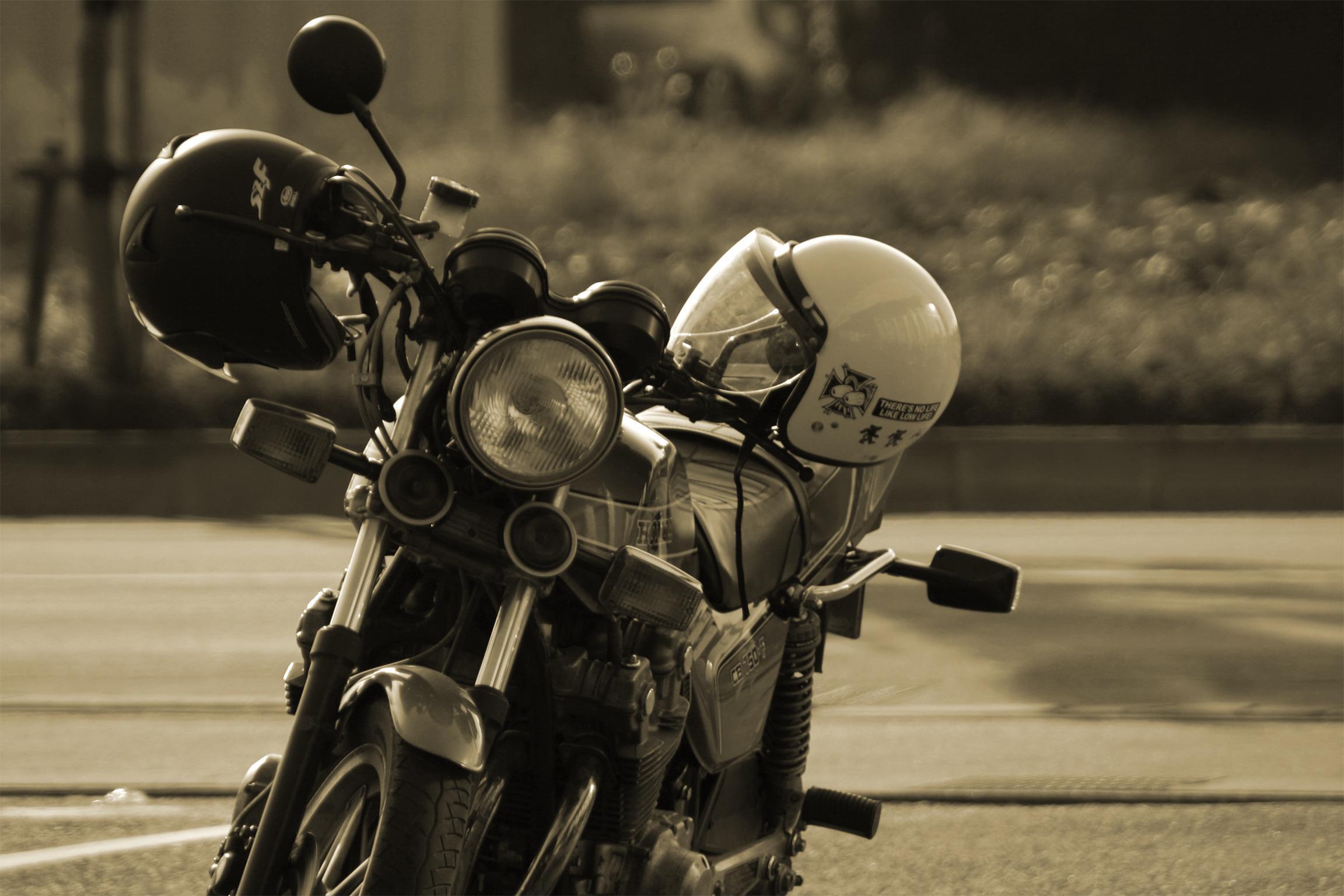 Motorcycle Sepia