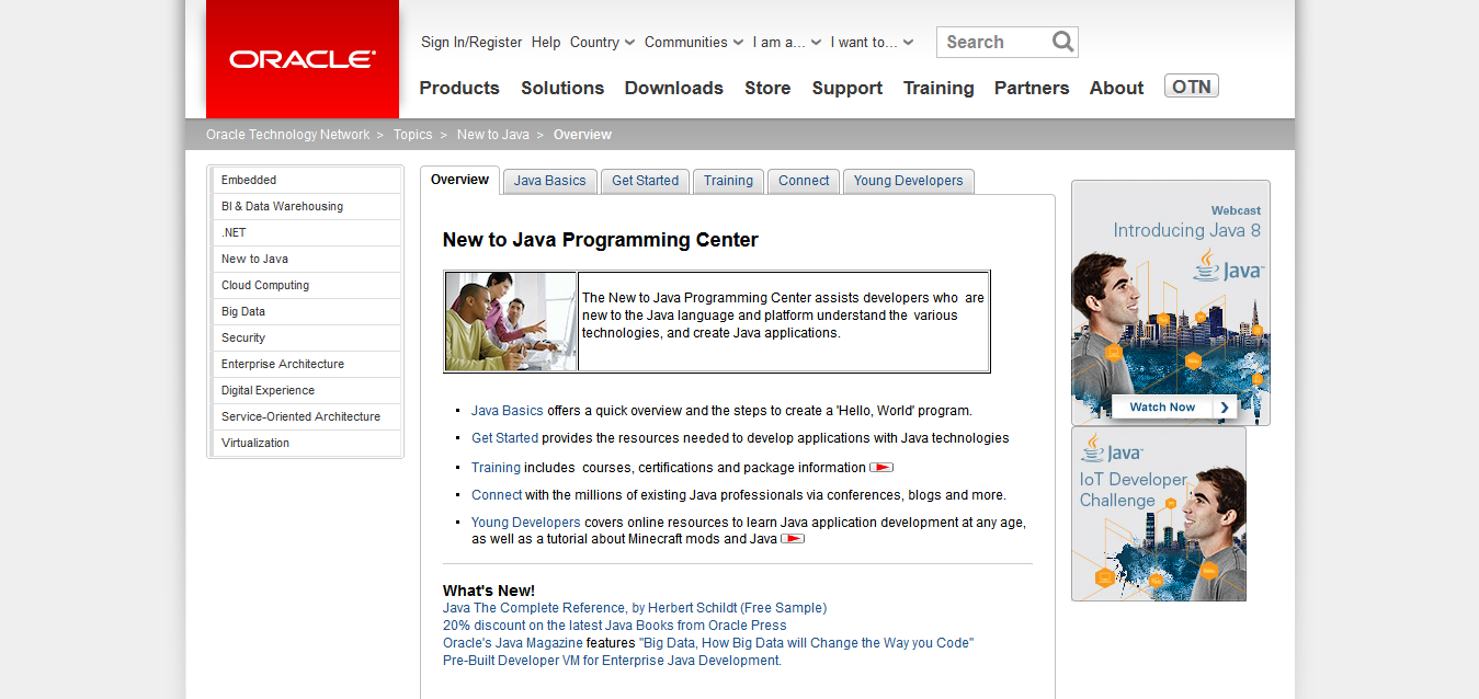 New to Java Programming Center