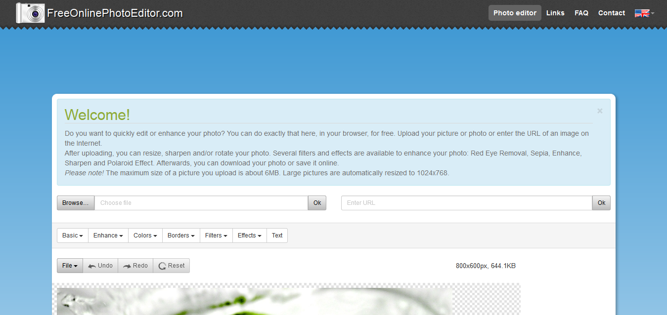 ONLINE PHOTO EDITOR - Edit your photos, pictures and images online for free