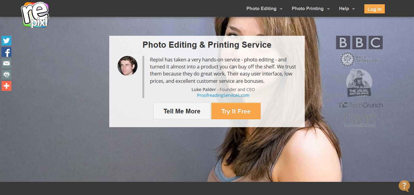 Online Photo Editing, Restoration, Repair, Retouching and Printing