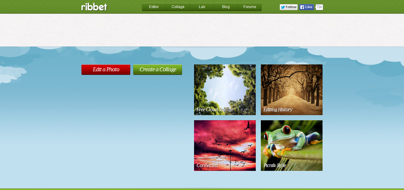 Photo Editor I Ribbet! Online Photo Editing Made Fun and Easy