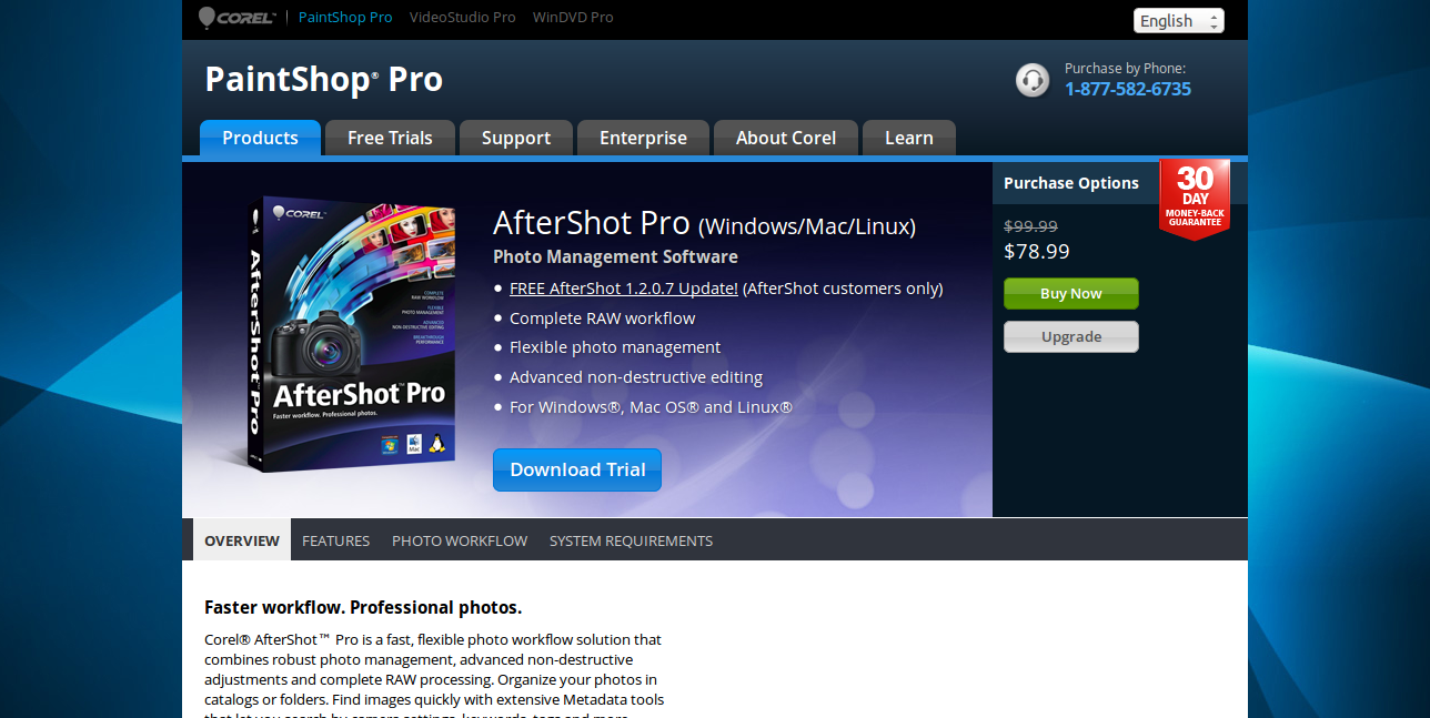 Photo Management Software - Corel AfterShot Pro