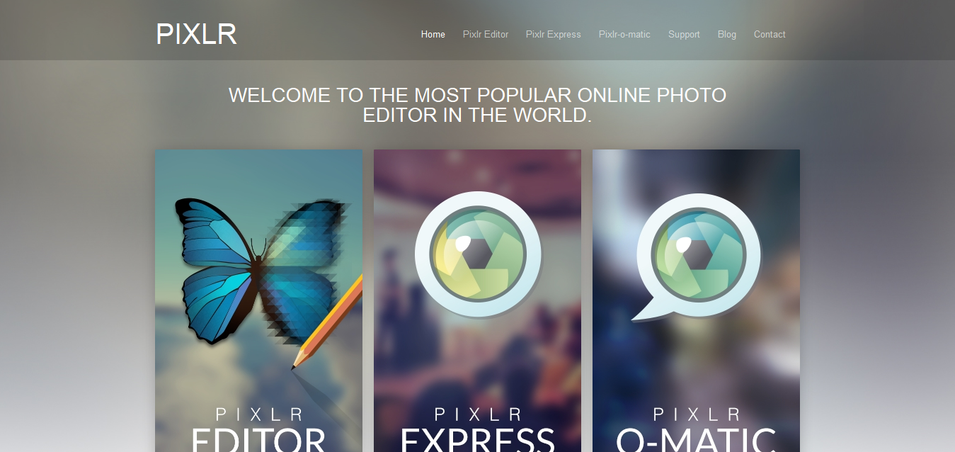 Photo editor online - Pixlr_com edit image