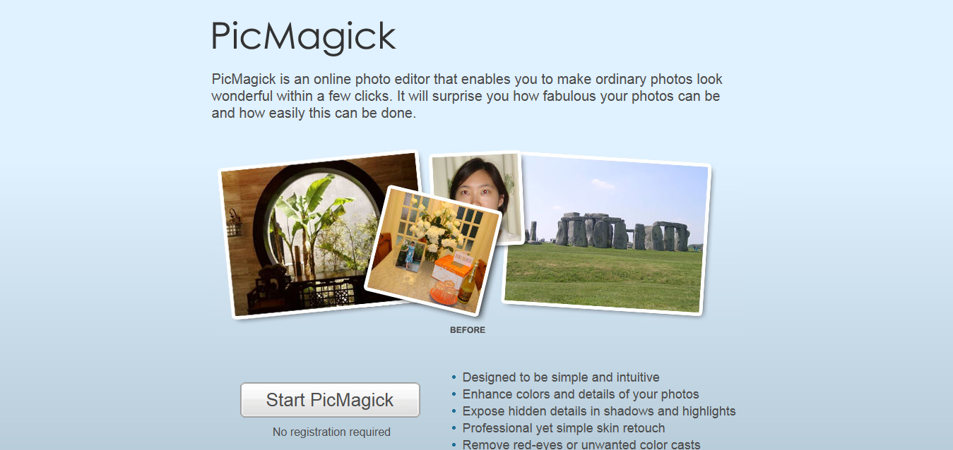 PicMagick - Simple yet Powerful Online Photo Editor