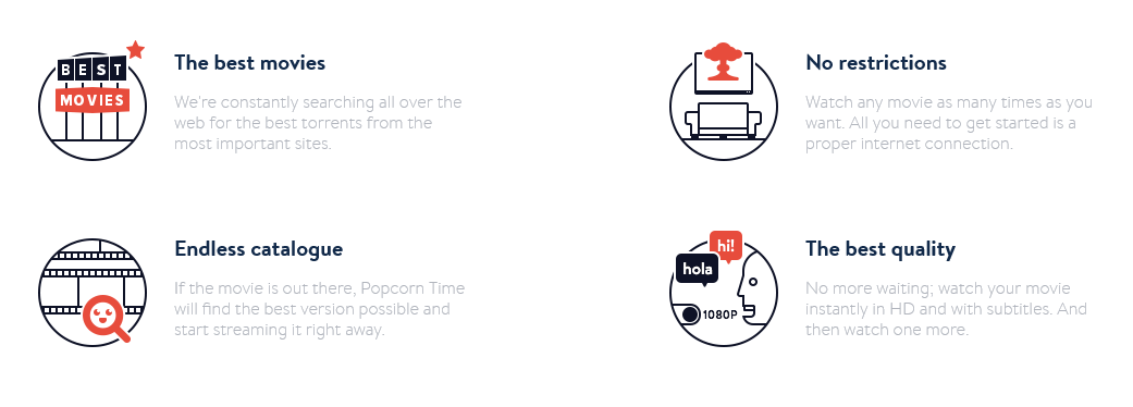 Popcorn Time - Features