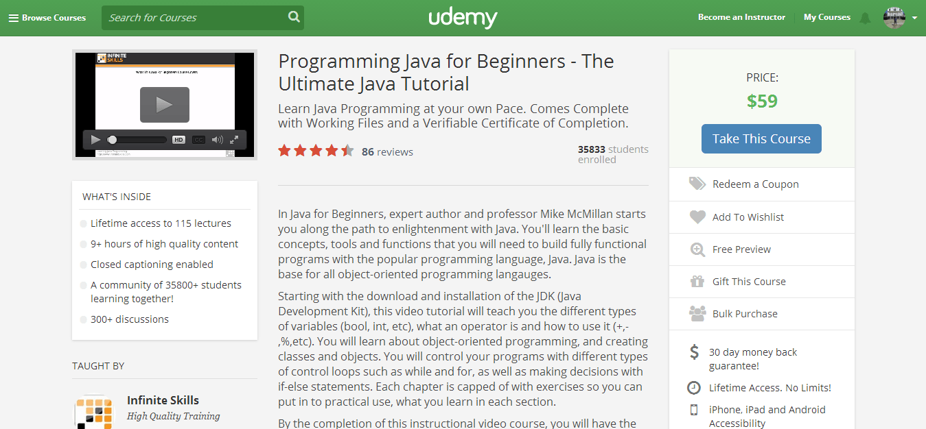 Programming Java for Beginners